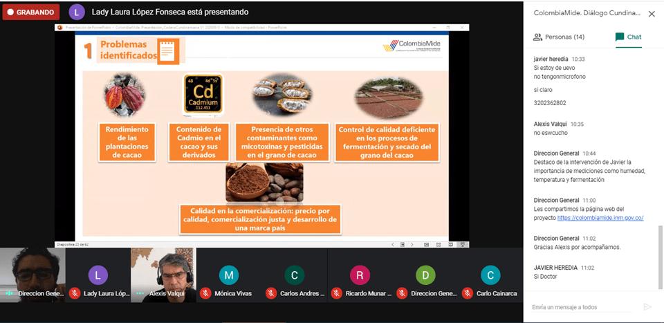 ColombiaMide. Diálogos regionales con actores de la cadena de cacao y sus derivados
