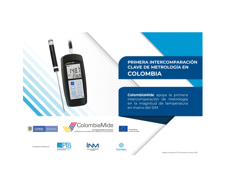 ColombiaMide apoya la organización de la primera intercomparación de metrología en la magnitud de temperatura en el marco del Sistema Interamericano de Metrología (SIM)