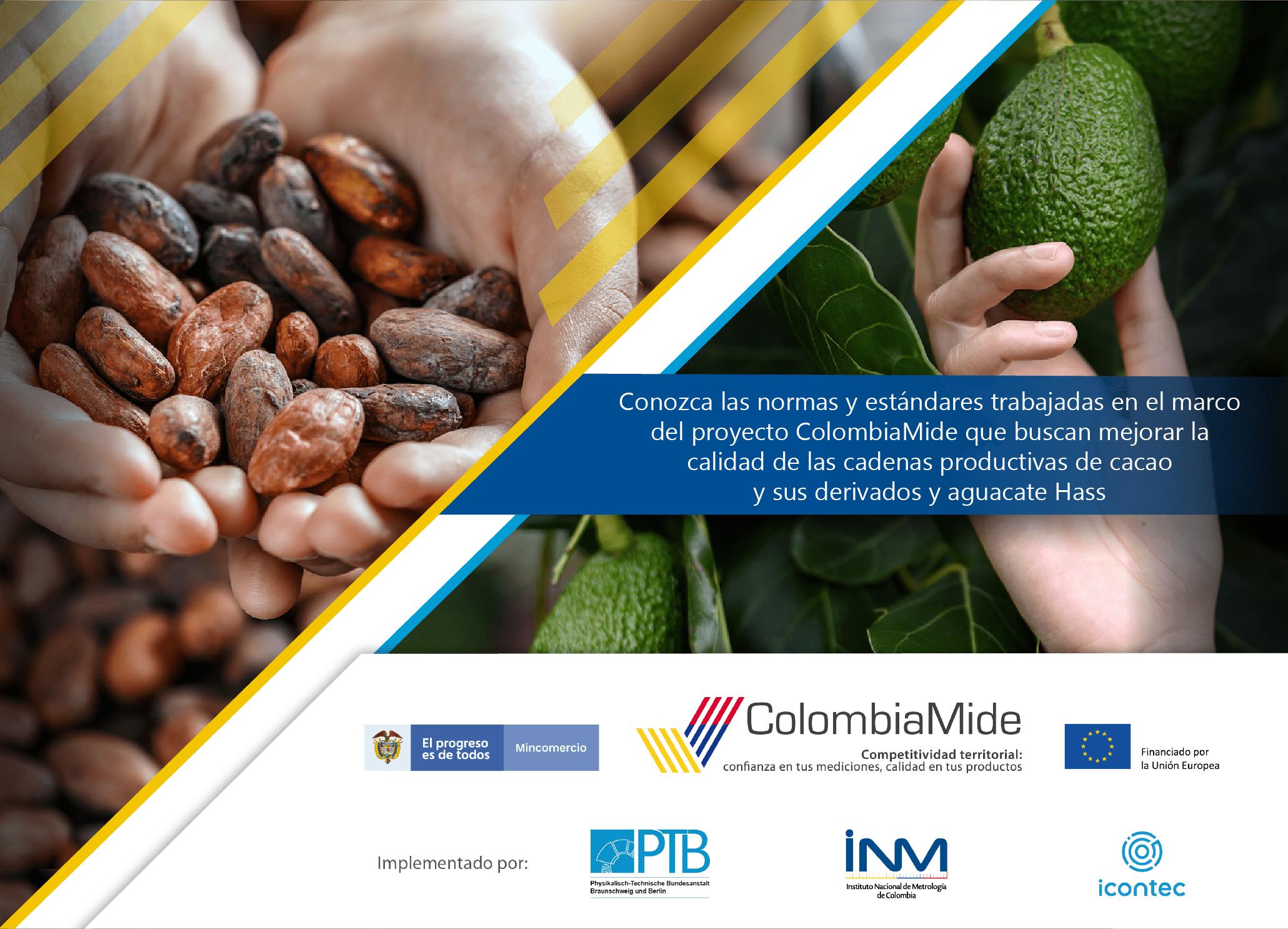 ColombiaMide apoya procesos de consulta pública y aprobación de Documentos Normativos para el fortalecimiento de cadenas de aguacate Hass y cacao y sus derivados