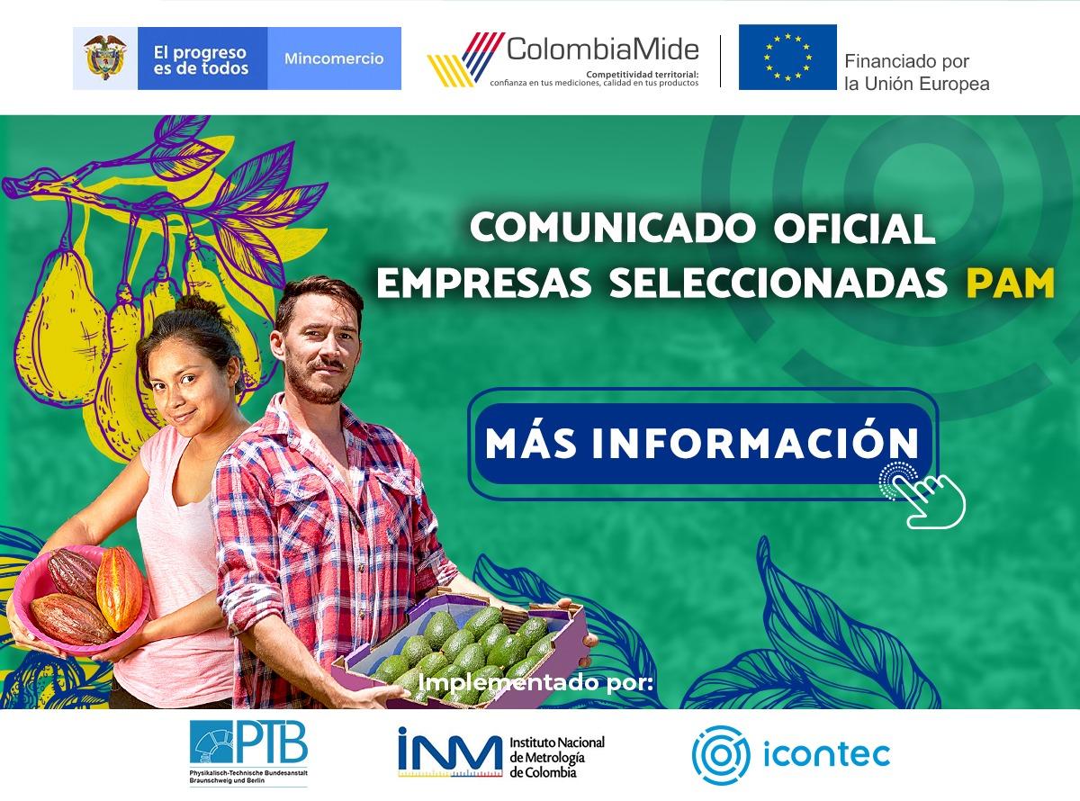 ColombiaMide. Lanzamiento de la Convocatoria Abierta para la selección de las empresas beneficiarias del Programa de Apoyo a Mipymes (PAM)