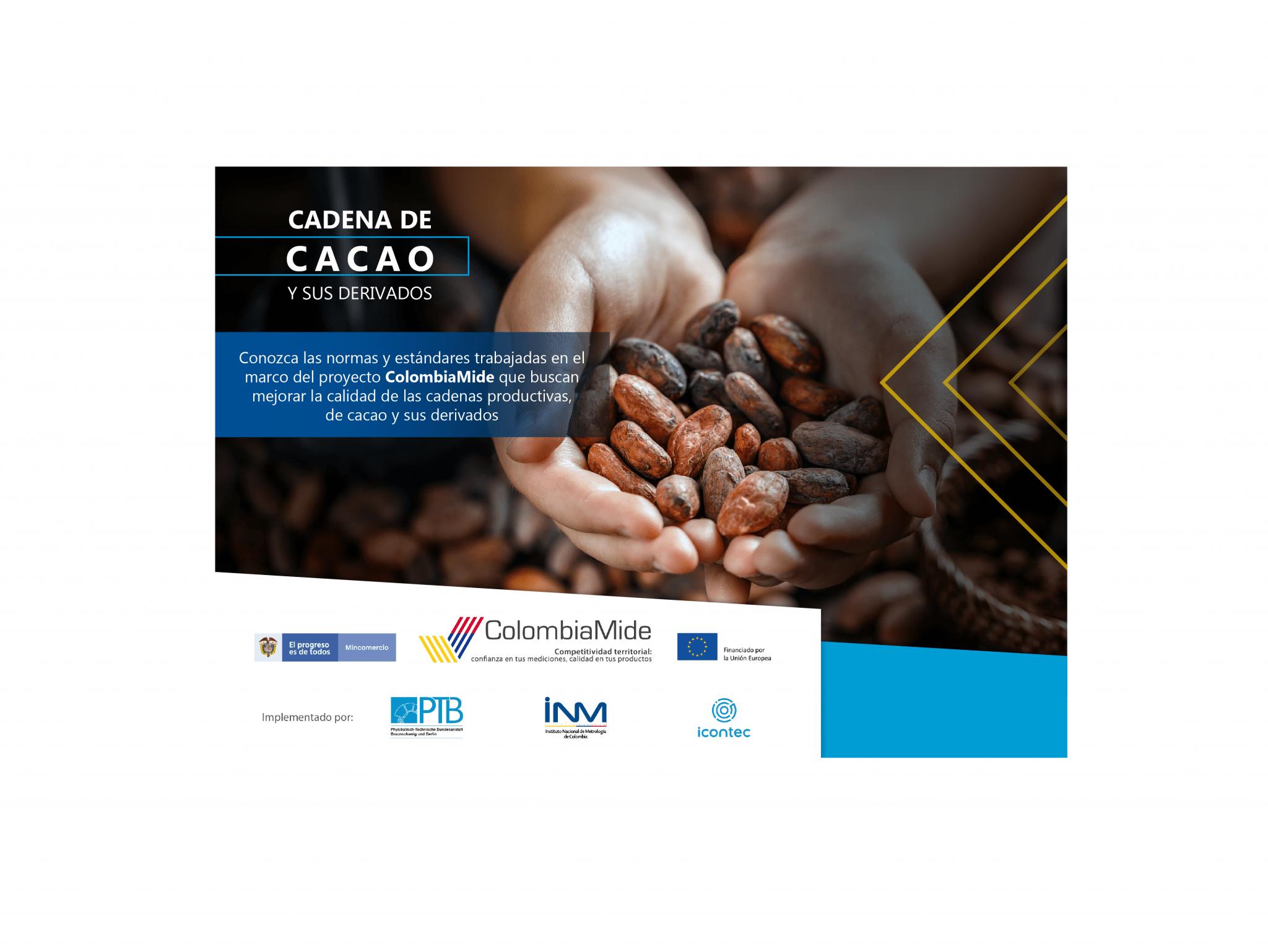 ColombiaMide continúa apoyando los procesos de consulta pública y la elaboración de Documentos Normativos para el fortalecimiento de la cadena de cacao y sus derivados