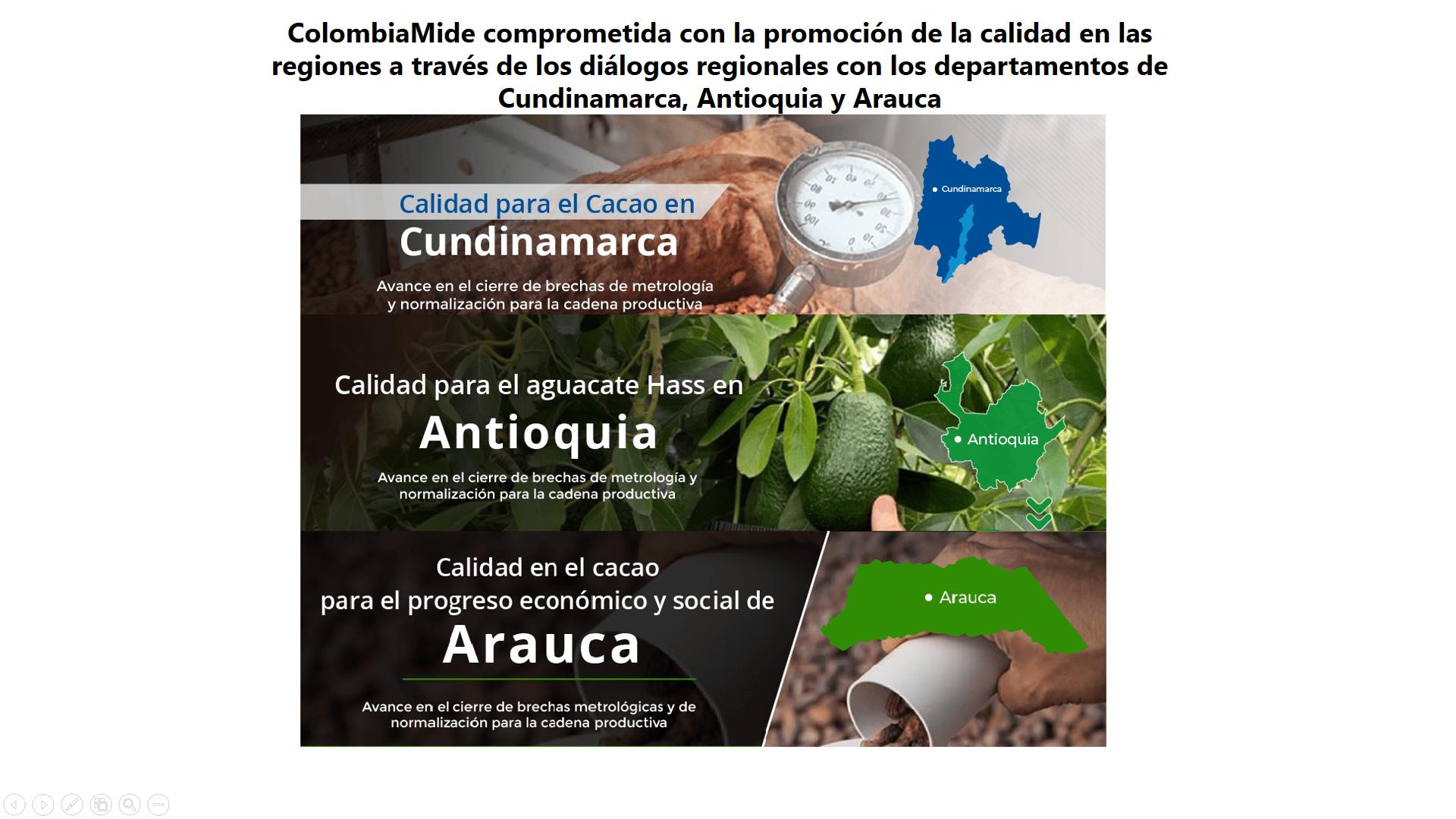 ColombiaMide comprometida con la promoción de la calidad en las regiones a través de los diálogos regionales con los departamentos de Cundinamarca, Antioquia y Arauca