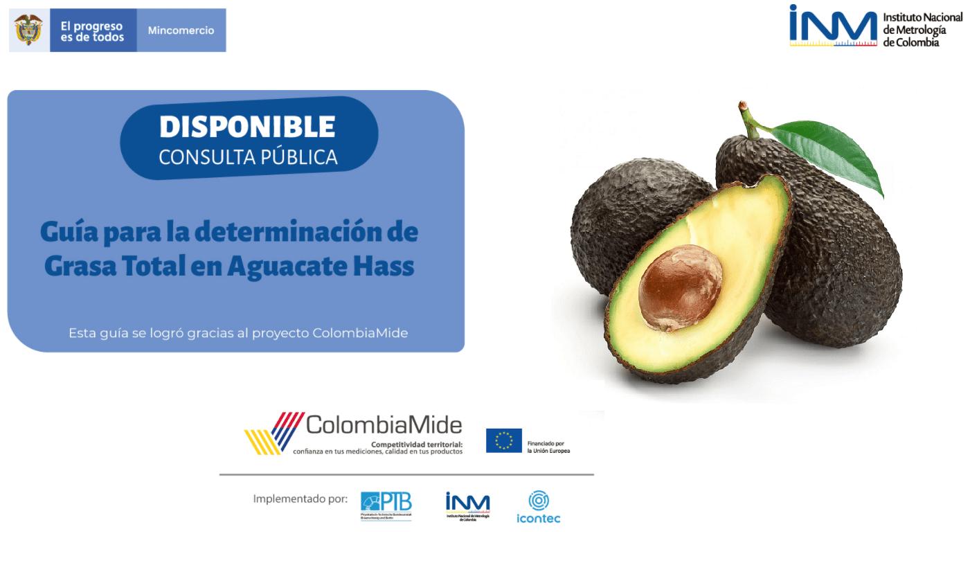 Gracias al proyecto ColombiaMide  se realizó guía para la determinación de grasa total del Aguacate Hass, disponible para consulta pública
