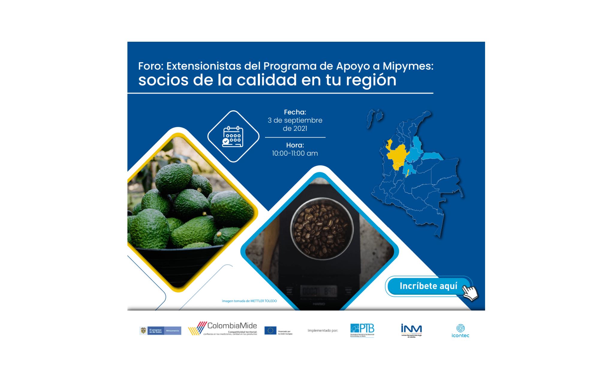 """ColombiaMide lanzó resultados de la asistencia técnica a Mipymes (PAM) con el foro: """"Extensionistas del Programa de Apoyo a Mipymes: socios de la calidad en tu región"""""""